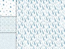 Pleuvoir l'illustration bleue d'abrégé sur goutte de pluie de nature de modèle de baisses de fond de l'eau sans couture de vecteu Photographie stock libre de droits