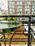 Pleuvoir le déluge tropical de baisses la nature du climat Photo stock