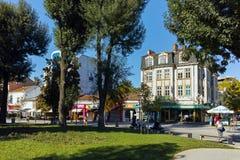 PLEVEN, BUŁGARIA - 20 2015 WRZESIEŃ: Środkowa ulica w mieście Pleven Fotografia Royalty Free