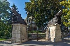 St. George the Conqueror Chapel Mausoleum, City of Pleven, Bulgaria. PLEVEN, BULGARIA - SEPTEMBER 20, 2015: St. George the Conqueror Chapel Mausoleum, City of stock photo