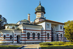 PLEVEN BULGARIEN - 20 SEPTEMBER 2015: Byggnad av Art Gallery i stad av Pleven Royaltyfri Foto