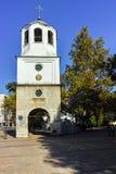 PLEVEN BULGARIEN - 20 SEPTEMBER 2015: Kyrka av St Nicholas i stad av Pleven Fotografering för Bildbyråer