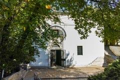 PLEVEN BULGARIEN - 20 SEPTEMBER 2015: Kyrka av St Nicholas i stad av Pleven Arkivfoton