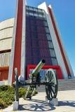 PLEVEN BULGARIEN - 20 SEPTEMBER 2015: Panorama den Pleven epopeen 1877 i stad av Pleven Arkivfoto