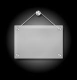 Plexi Schild Lizenzfreie Stockbilder