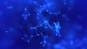Plexo abstracto del fondo de la comunicaci?n digital y de la tecnolog?a con las l?neas y los puntos gr?fico del movimiento 4K libre illustration