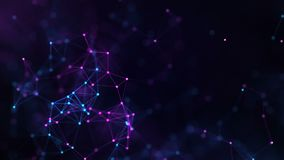 Plexo abstracto del fondo de la comunicaci?n digital y de la tecnolog?a con las l?neas y los puntos gr?fico del movimiento 4K stock de ilustración