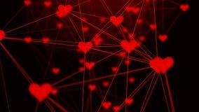 Plexo bonito dos corações Fundo do sumário do dia do ` s do Valentim com corações ilustração stock
