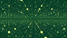 Plexo digital del mundo Mundo del punto de Digitaces en espacio Resuma el tween del movimiento en el espacio punteado ilustración del vector