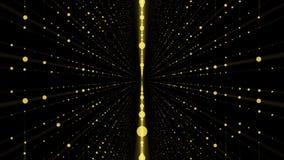 Plexo digital do mundo Mundo do ponto de Digitas no espaço Abstraia o tween do movimento no espaço pontilhado ilustração royalty free