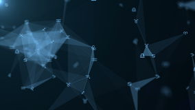 Plexo hermoso con las muestras del zodiaco, estrellas Grupo de estrellas que forman una constelación Animación del lazo libre illustration