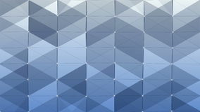 Plexus of abstract lines, triangles and dots. Blue background. Loop animations. stock video footage