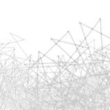 Plexus-abstrakte Wissenschafts-Netz-Masche Lizenzfreie Stockfotos