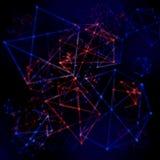 Plexus-abstrakte Wissenschafts-Netz-Masche Stockfotos