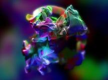 Plexus av härliga partiklar, illustration 3d Arkivbild