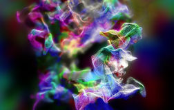 Plexus av härliga partiklar, illustration 3d Royaltyfri Bild
