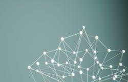 Plexus background with lines and spheres Stock Image