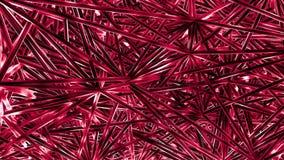 Plexus czerwone linie, kropki, wieloboki i światła z pył cząsteczkami, Futurystyczny technologii i nauki abstrakta tło zdjęcie stock