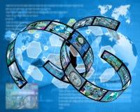 Plexus d'Internet Photographie stock libre de droits