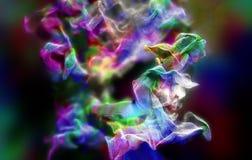 Plexus de belles particules, illustration 3d Image libre de droits