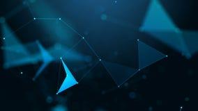 Plexus fantazi abstrakta technologia tło geometrycznego abstrakcyjne zdjęcie wideo