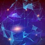 plexus Fond géométrique abstrait moderne Technologie informatique Concept de connexion internet et de radio illustration de vecteur