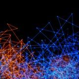 Plexus-Hintergrund-blaue Orange Stockbilder