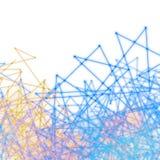 Plexus-Hintergrund-weiße Wissenschaft Nano Stockfotos