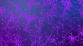 Plexus of lines and dots. Abstract motion background. Molecular lattice network. Seamless loop animation royalty free illustration