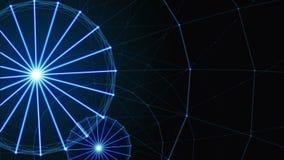 Plexus linie, trójboki i kropki abstrakta, Ferris koło zbiory