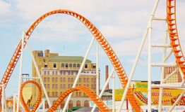 Plexus Of Landmarks On Coney Island New York Royalty Free Stock Photography