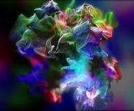 Plexus piękne cząsteczki, 3d ilustracja Obrazy Royalty Free