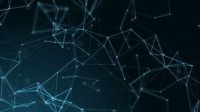 Plexus piękna elegancka cyfrowa tapeta zbiory wideo