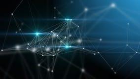 Plexusphantasie-Zusammenfassungstechnologie und Technikhintergrund Stockbilder