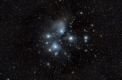 Pleyades Pleiades M45 royalty free stock image