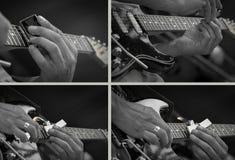Pleyer del fuego de la guitarra imagenes de archivo