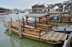 Plezierboot in Zhujiajiao Royalty-vrije Stock Foto