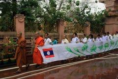 Plgrims at Bodh Gaya. Pilgrims arriving at Bodh Gaya Royalty Free Stock Image