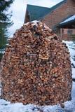 Plié d'une manière ordonnée en hiver photos stock