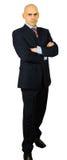 pli d'homme d'affaires de bras hansome sa verticale Image libre de droits