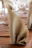 Pli de serviette Photo stock