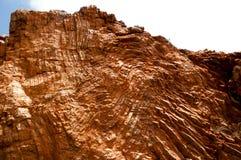 Pliage archéen de roche - géologie structurelle photographie stock libre de droits