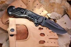 Pliage de couteau photo stock