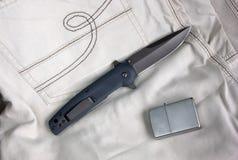 Pliage de couteau photographie stock libre de droits