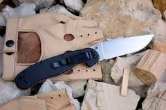Pliage de couteau photographie stock