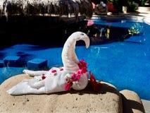 Pliage de serviette comme forme d'art photographie stock libre de droits