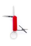 Pliage rouge de couteau image stock