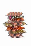 Plie van pakketten met tabletten Royalty-vrije Stock Fotografie