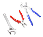 Plier and Spanners Royalty Free Stock Images