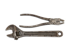 Pliers and adjustable spanner Stock Photography